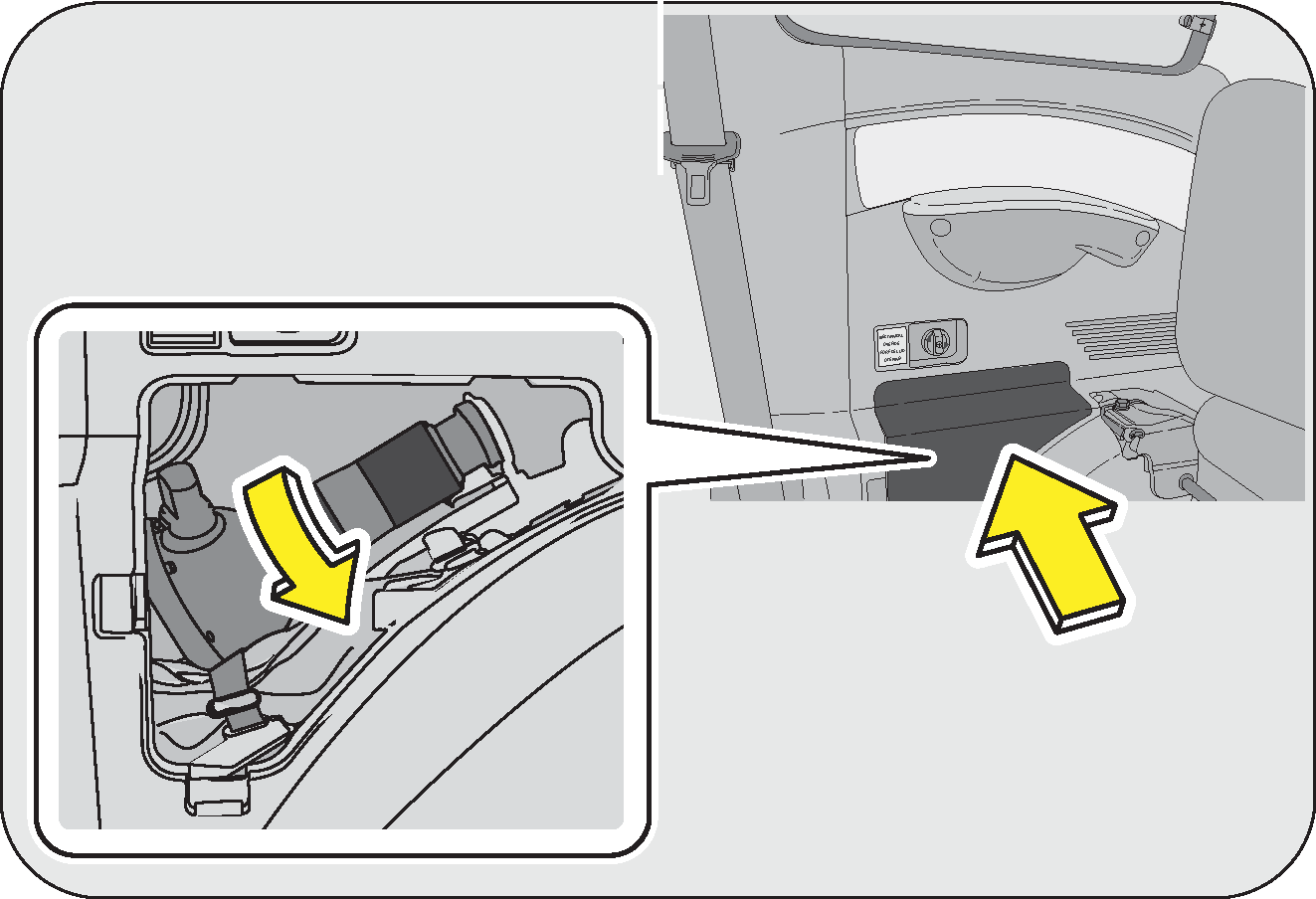 Owners Manual Micro Switch Seat Belt Open Wiring Diagram The Jack Extension And Warning Triangle Are Placed Beneath Front Passenger Slide Backwards Pull Velcro Access